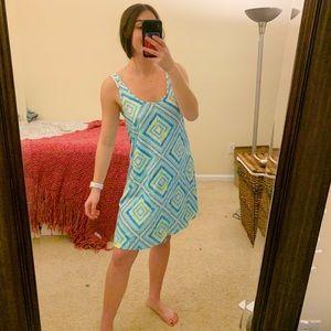 Southern Tide Courtland Geo-Print Dress Pool Blue